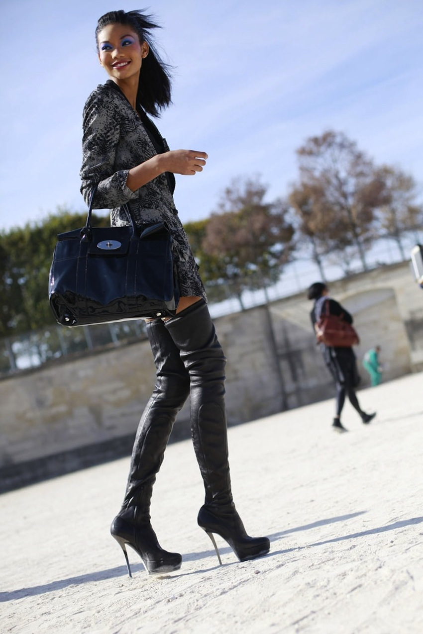 Leather Pants And Thigh High Boots Boot Hto