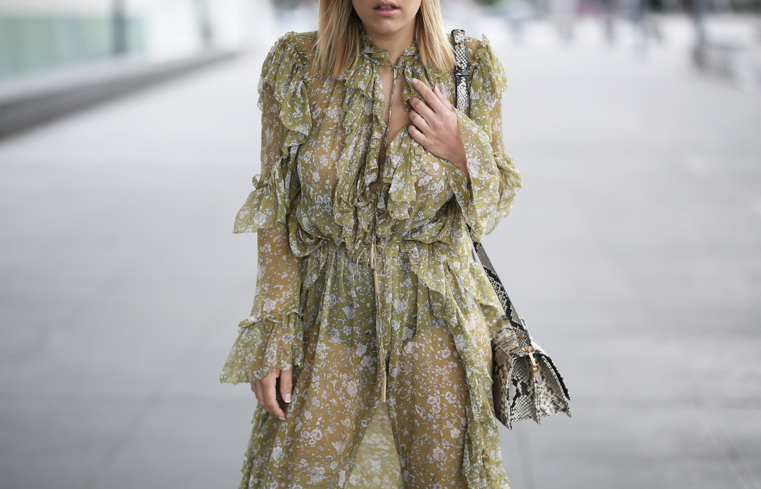 Zimmermann Ruffle Dress Kirby Hughes Melbourne Street Style